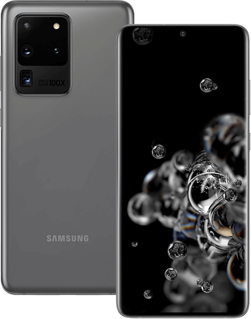 Samsung Galaxy S20 Ultra 5G front and back image