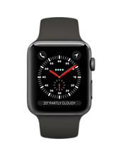 Apple Watch S3 GPS and Cellular 38mm Space Grey Aluminium With Sport Band